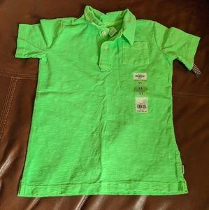Osh kosh bright green polo